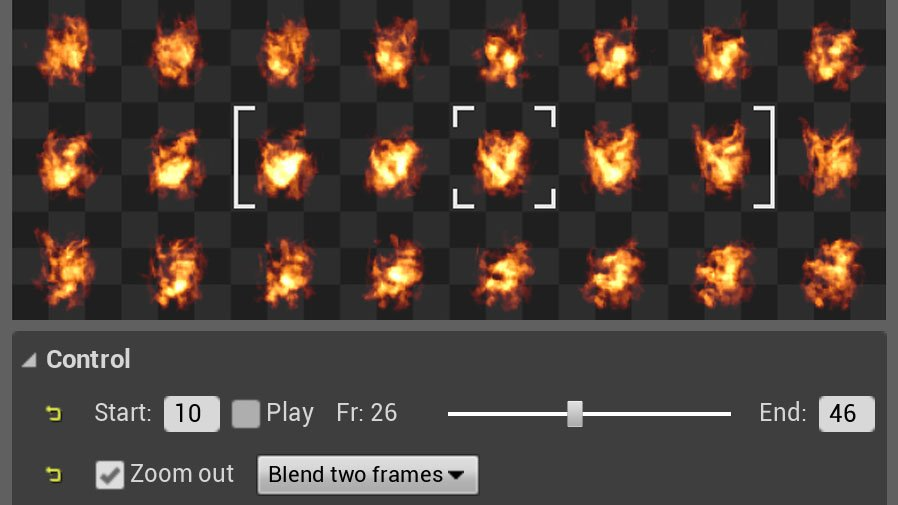 Flipbook Viewer: a spritesheet animation player for Unreal